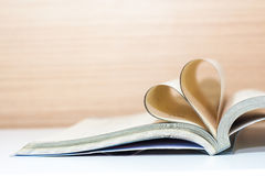 Heart book concept love Stock Photography