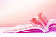 Heart book concept love Royalty Free Stock Images
