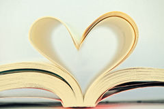 Heart book Stock Image