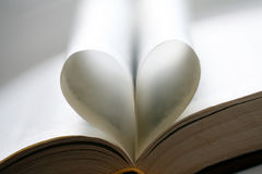 Heart of the book leaves Royalty Free Stock Photography