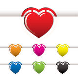 Heart book mark Royalty Free Stock Images