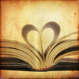 Heart from book page Royalty Free Stock Photography