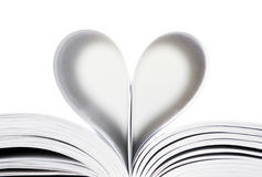 Heart from book pages. Isolated stock images