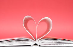 Heart from a book pages Stock Photography
