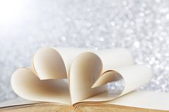 Heart from book pages Stock Images