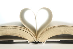 Heart in book pages Stock Image