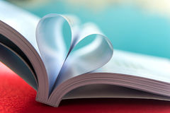 Heart with book pages. Soft focus Royalty Free Stock Photos