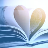 Heart from book pages Royalty Free Stock Image