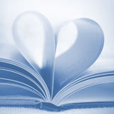 Heart from book pages Stock Photos