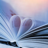 Heart from book pages Stock Photo