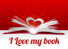 Heart from book pages Stock Photography