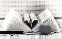 Heart book shaped Royalty Free Stock Images