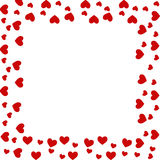 Heart border. With space in centre Royalty Free Stock Images