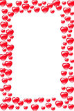 Heart border. Red beautiful heart border is designed in photoshop Royalty Free Stock Images