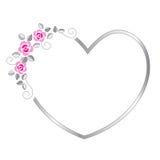 Heart border vector illustration