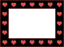 Heart Border Royalty Free Stock Image