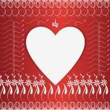 Heart border Stock Image