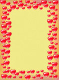 Heart border background Royalty Free Stock Images