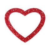 Heart Frame. A red glitter heart frame royalty free stock photography