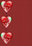 Heart Border on Paper. A patterned paper with large hearts for a border royalty free illustration