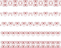 Heart border. Set of graphic heart borders Royalty Free Stock Photos