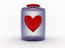 Heart in bottle Royalty Free Stock Image