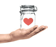 Heart in the bottle Royalty Free Stock Image