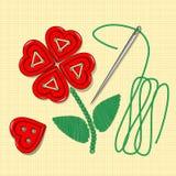 Heart bottoms, valentine's day, needle Stock Photos