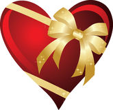 Heart with bow. The  illustration contains the image of heart with bow Royalty Free Stock Photography