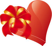 Heart with bow Stock Photos