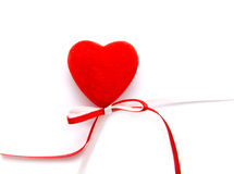 Heart with a bow Stock Images