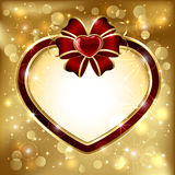 Heart and bow Royalty Free Stock Photos