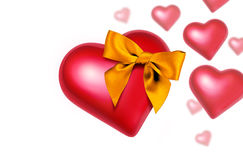 Heart with Bow Falling Stock Photos