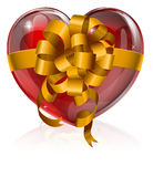 Heart bow gift concept Royalty Free Stock Image