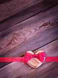 Heart with bow Royalty Free Stock Photo