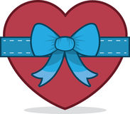 Heart With Bow Stock Images