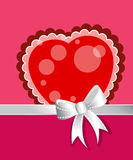 Heart with bow and ribbon Royalty Free Stock Photography