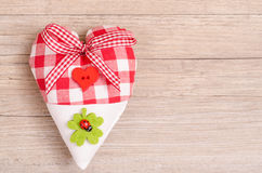 Heart with bow of a rippon Royalty Free Stock Photos