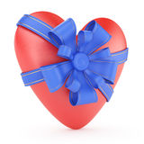 Heart with bow Royalty Free Stock Image