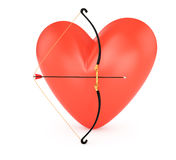 Heart and bow Stock Photography