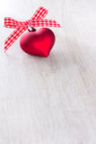 Heart bow xmas red white Stock Image