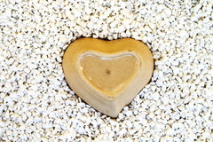 Heart bowl in mill stone Royalty Free Stock Image