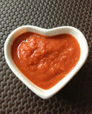 Heart bowl with spicy Royalty Free Stock Photos