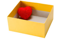 Heart in Box Stock Image