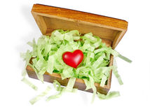 Heart in box Royalty Free Stock Photos
