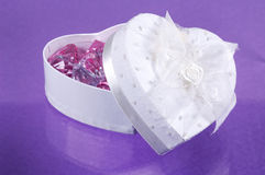 Heart Box. With Gems - A Girls Best Friend Concept Stock Photos