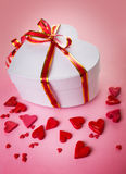Heart box with a bow Royalty Free Stock Image