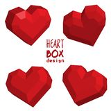 Heart box design 3d origami style royalty free illustration