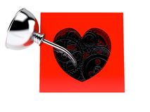 Heart box with gears Royalty Free Stock Photos