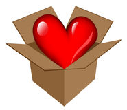 Heart in box icon Stock Photo